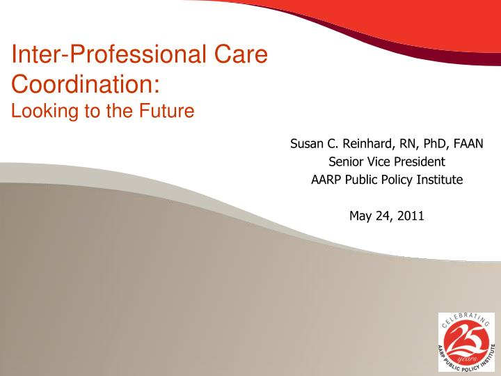 inter professional care coordination looking to the future n.
