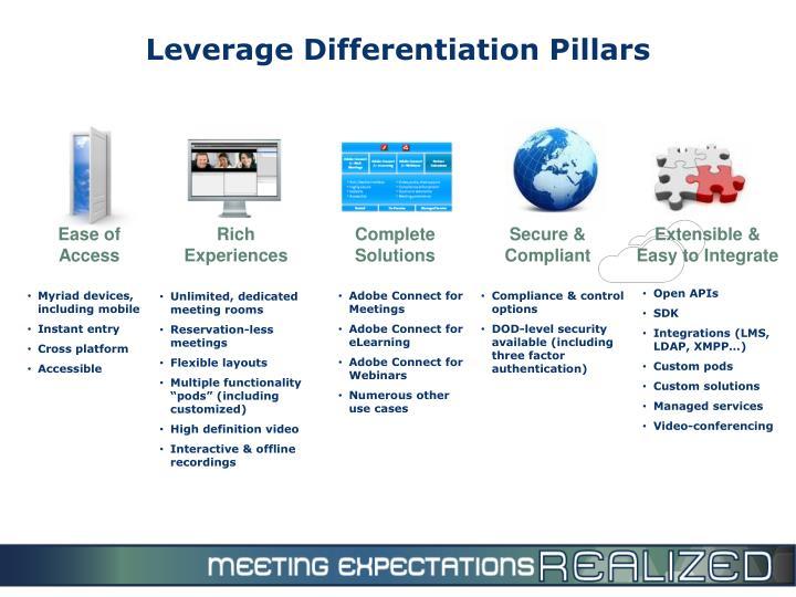Leverage Differentiation Pillars