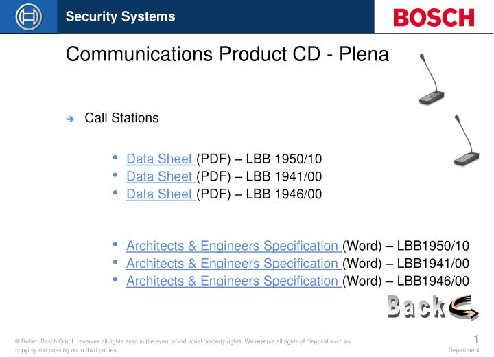 communications product cd plena n.