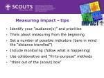 measuring impact tips