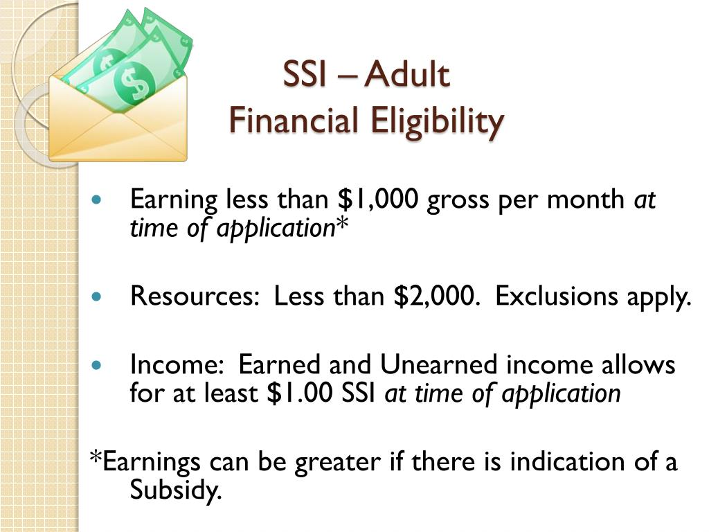 PPT - Supplemental Security Income (SSI) And Medicaid