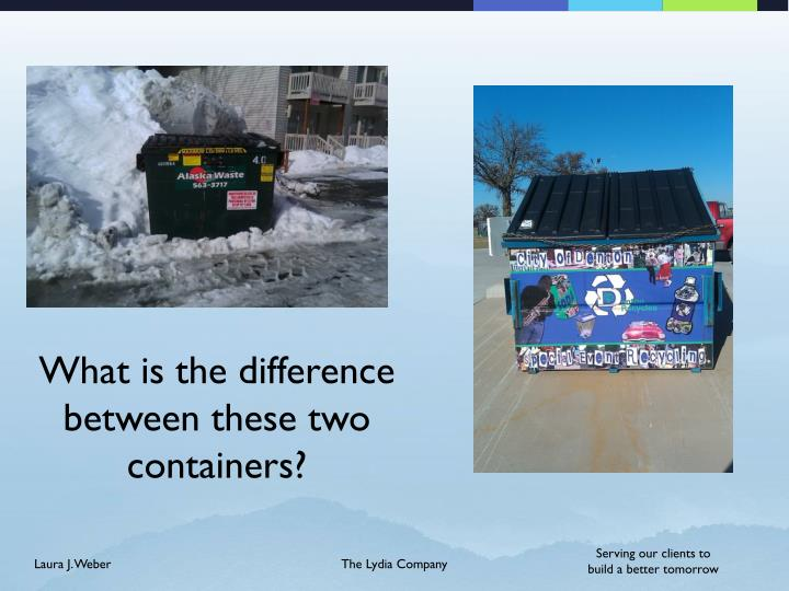 What is the difference between these two containers?