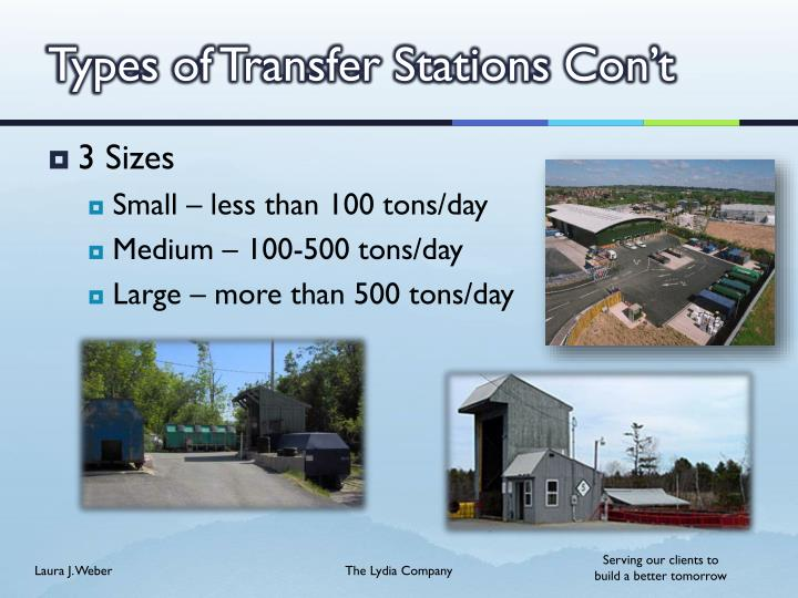 Types of Transfer Stations