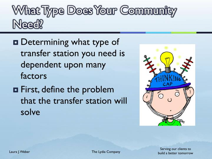 What Type Does Your Community Need?