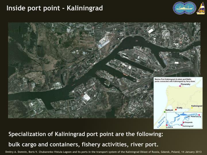 Inside port point - Kaliningrad
