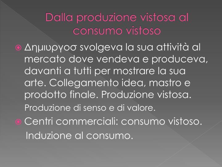 Dalla produzione vistosa al consumo vistoso