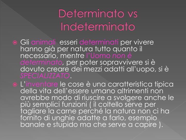 Determinato vs Indeterminato