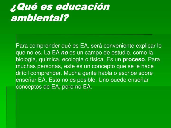 Qu es educaci n ambiental