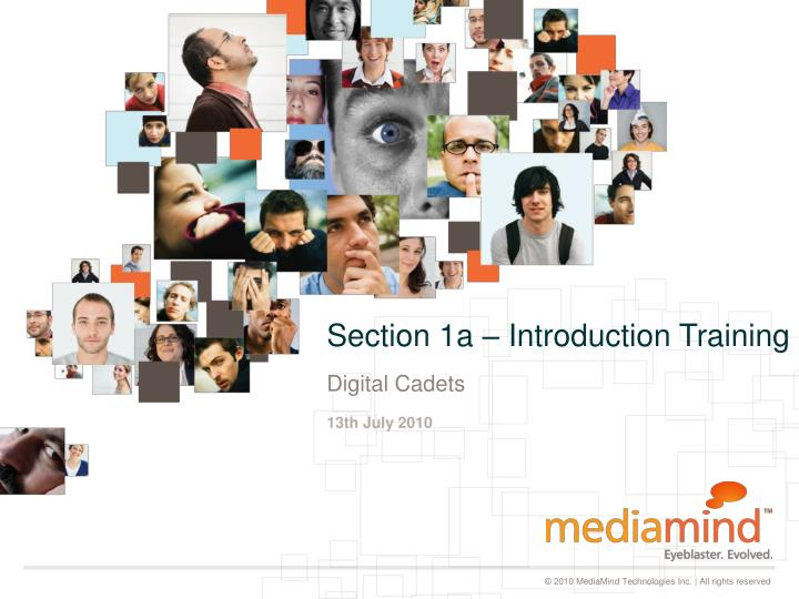 section 1a introduction training n.