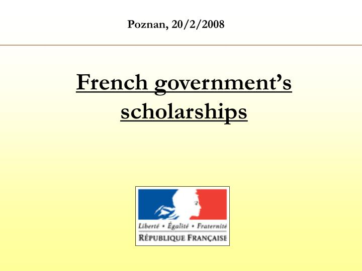 french government s scholarships n.