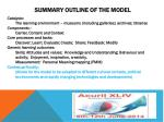 summary outline of the model4