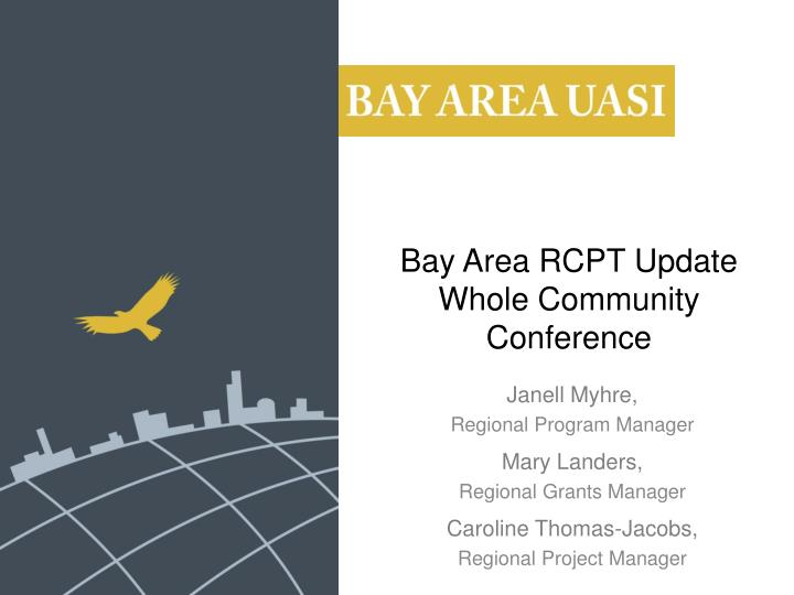 bay area rcpt update whole community conference n.