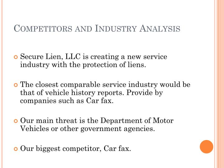 Competitors and Industry Analysis