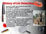 history of lie detection