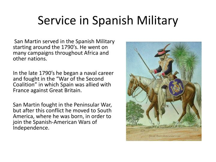 Service in spanish military