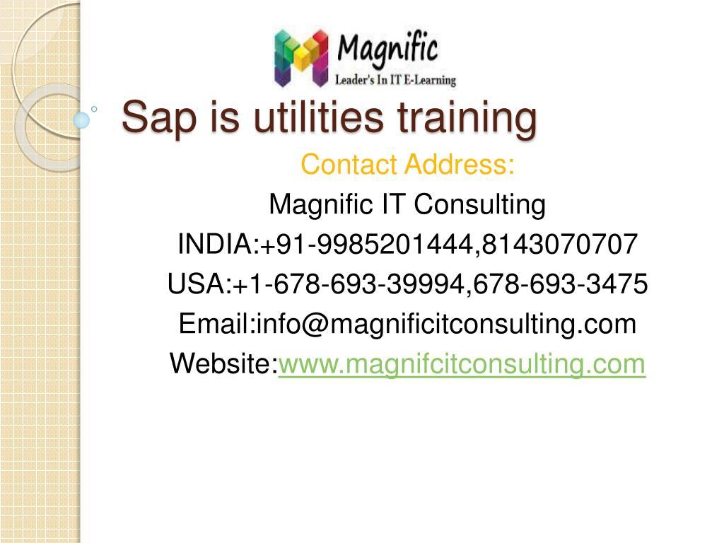PPT - sap is utilities training PowerPoint Presentation - ID