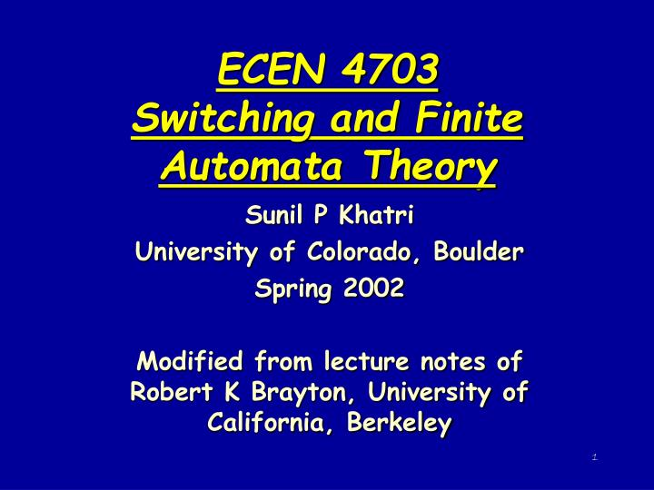 Introduction to automata theory ppt video online download.