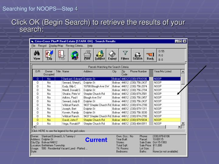 Searching for NOOPS—Step