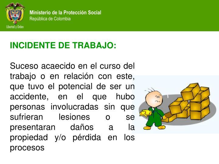 INCIDENTE DE TRABAJO: