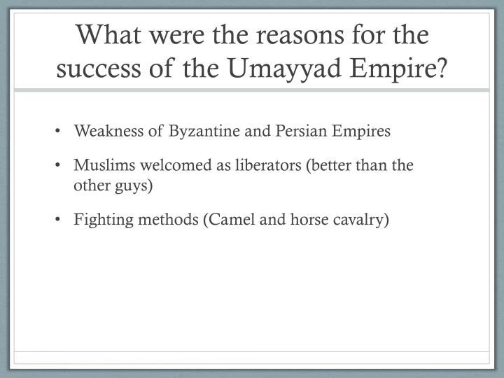 what were the reasons for the success of the umayyad empire n.