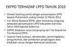 ekppd terhadap lppd tahun 2010
