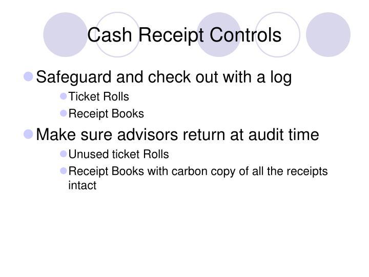 Cash Receipt Controls