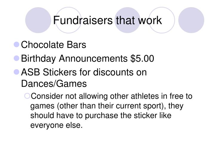 Fundraisers that work