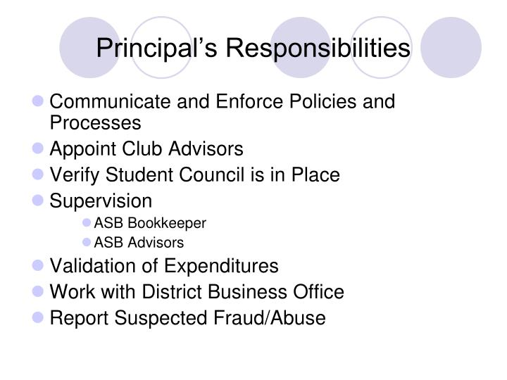 Principal's Responsibilities