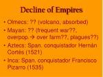 decline of empires