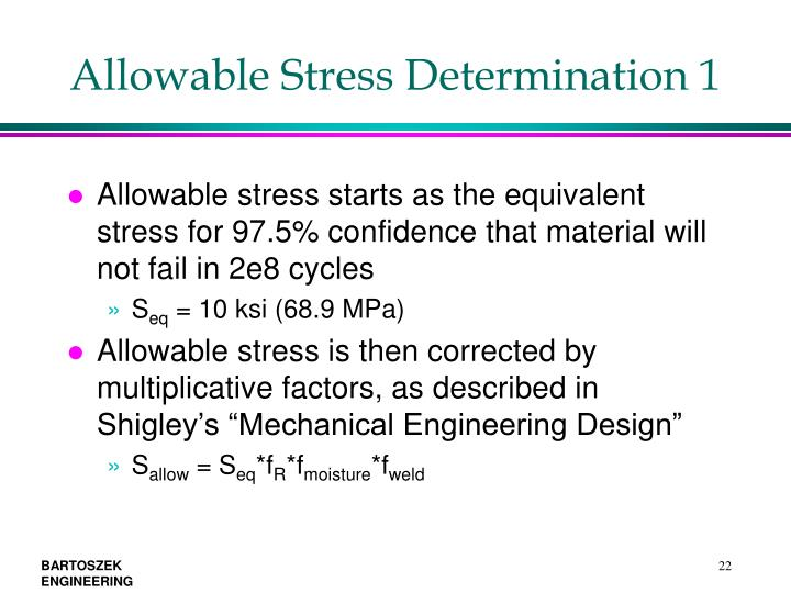 Allowable Stress Determination 1