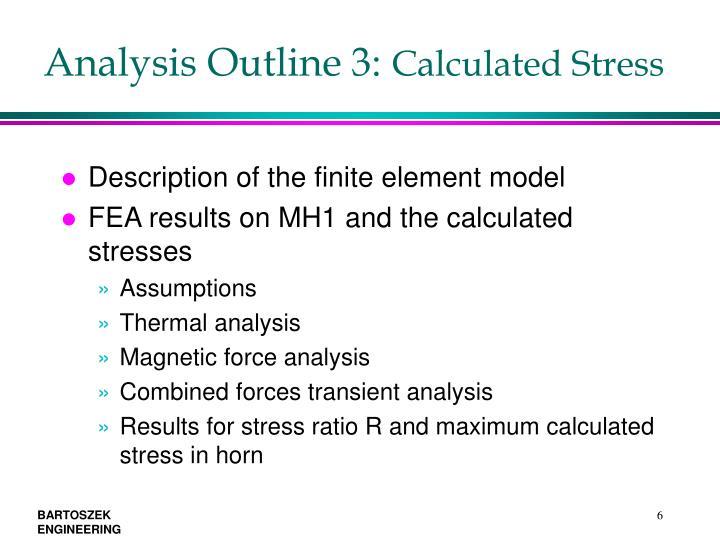 Analysis Outline 3: