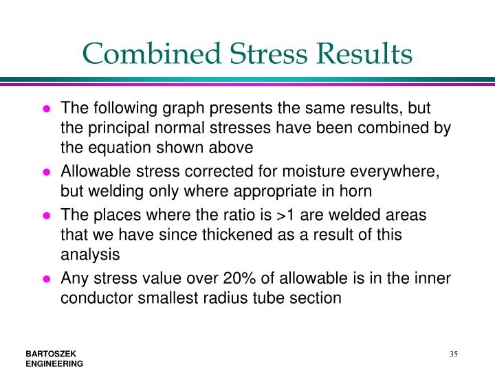 Combined Stress Results