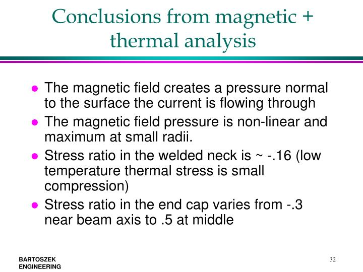 Conclusions from magnetic + thermal analysis