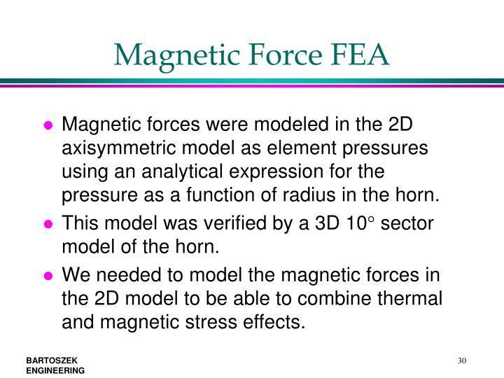 Magnetic Force FEA