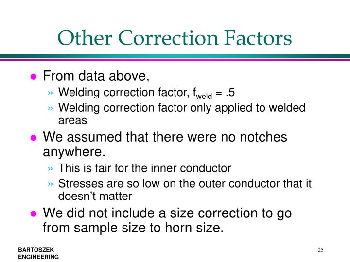 Other Correction Factors
