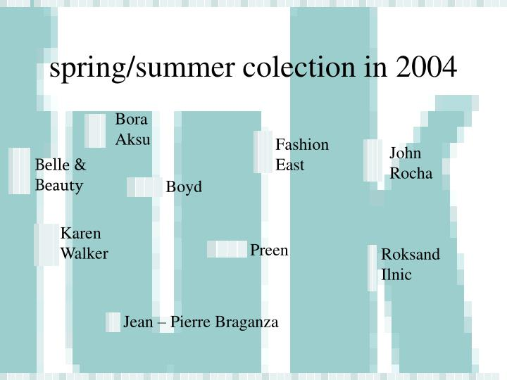 spring/summer colection in 2004