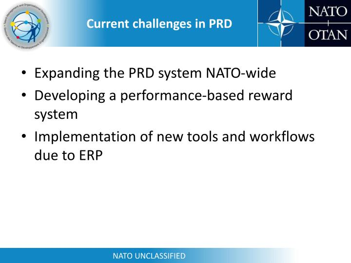 Current challenges in PRD