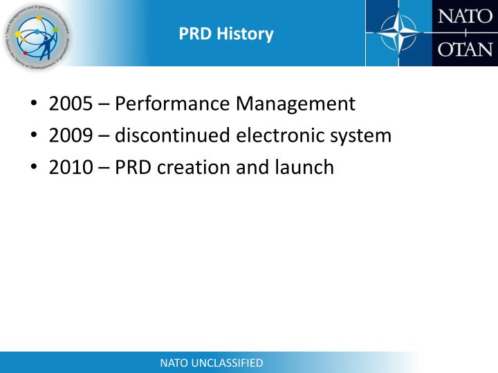 PRD History