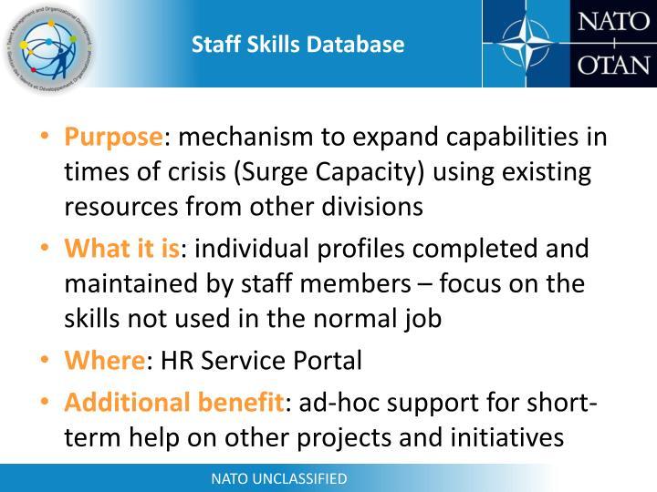 Staff Skills Database
