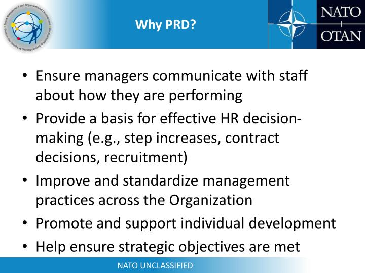 Why PRD?