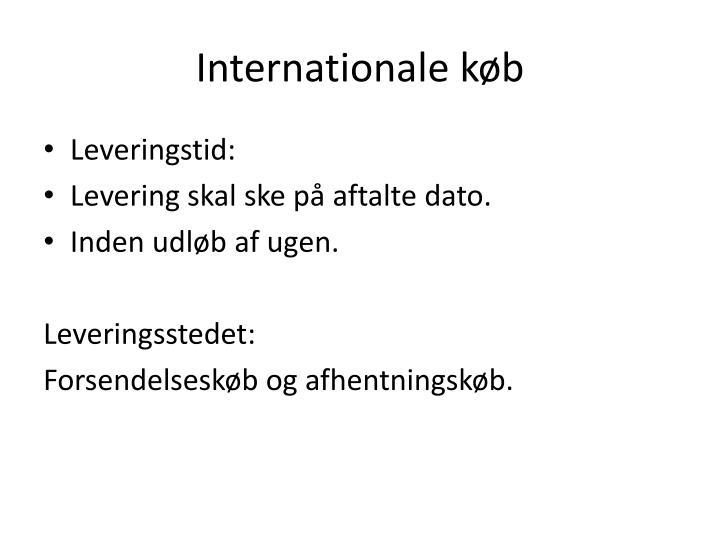 Internationale køb