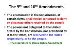 the 9 th and 10 th amendments