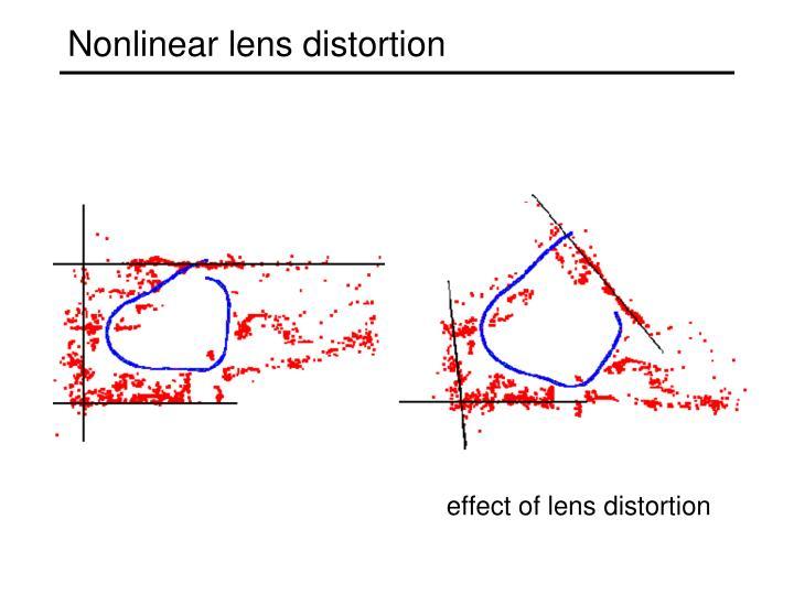 Nonlinear lens distortion