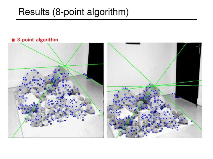 Results (8-point algorithm)