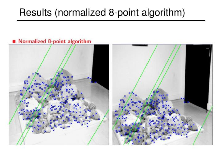 Results (normalized 8-point algorithm)