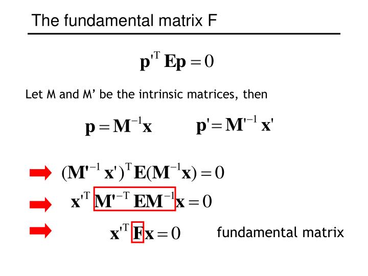 Let M and M' be the intrinsic matrices, then
