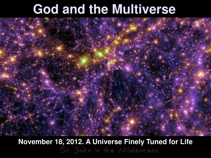 god and the multiverse n.