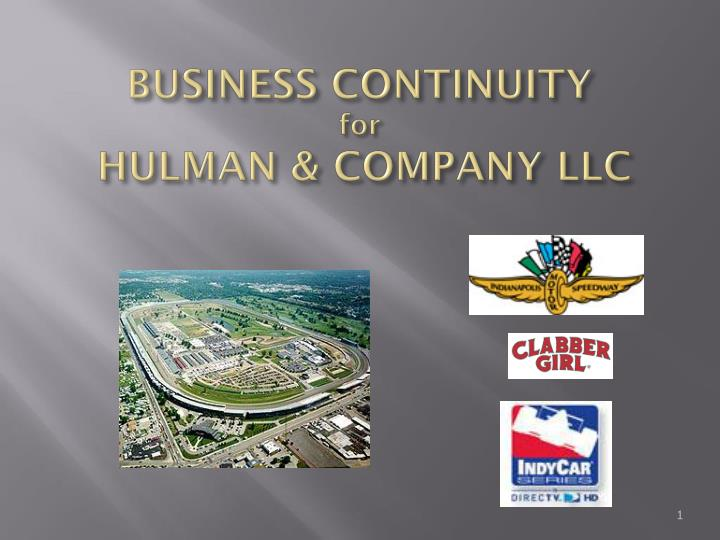 business continuity for hulman company llc n.