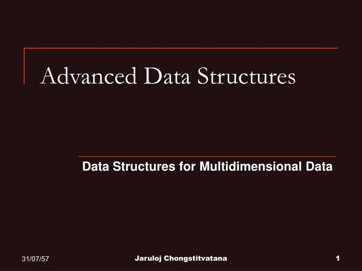 advanced data structures n.
