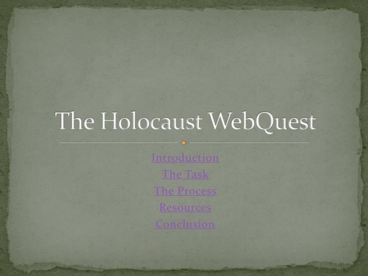 the holocaust webquest n.